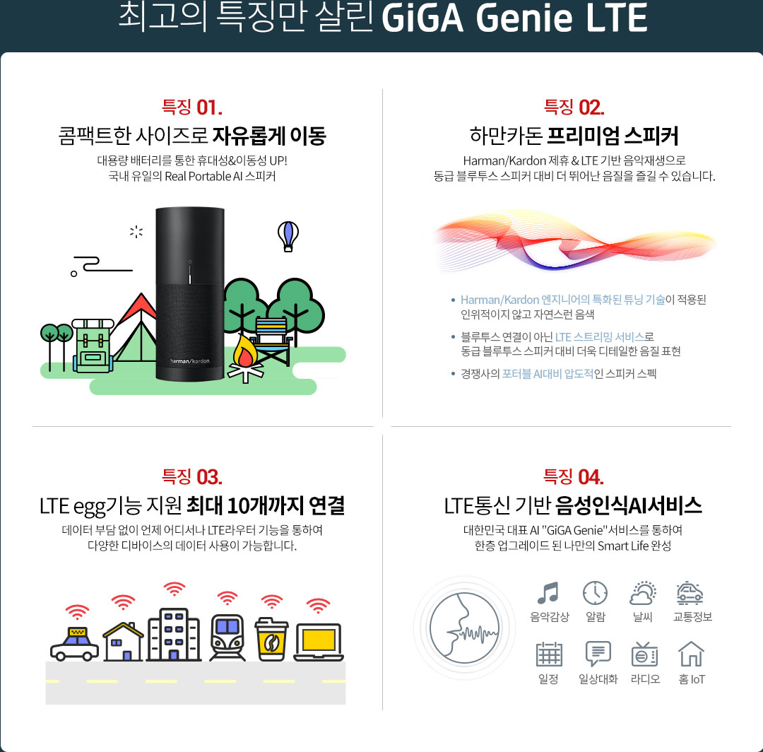 최고의 특징만 살린 GiGA Genie LTE