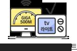 최대 500M + tv 라이트