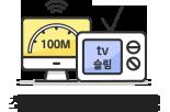 최대 100M + tv 슬림