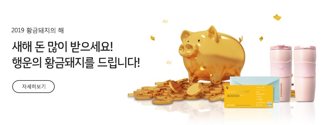 2019 황금돼지의 해 | 새해 돈 많이 받으세요! 행운의 황금돼지를 드립니다!