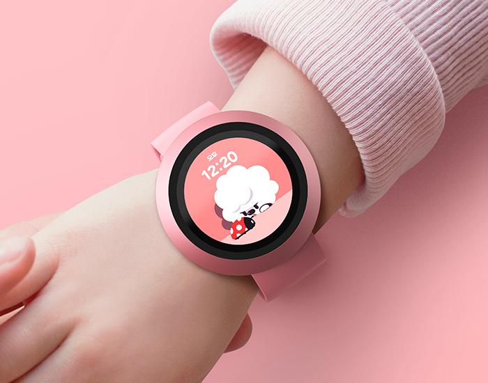 네이버키즈 아키폰 핑크 색상 이미지
