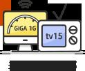 최대 1G + tv15
