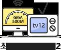 최대 500M + tv12