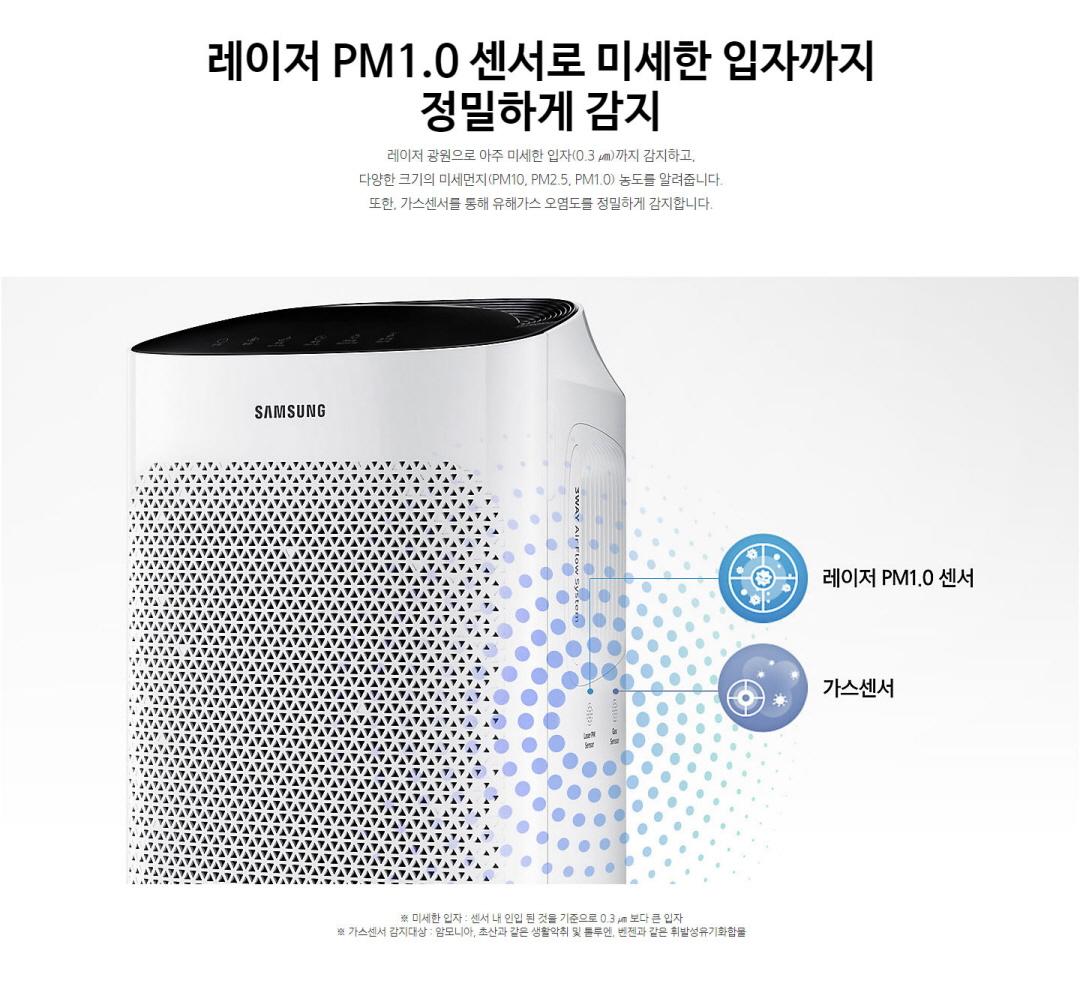 레이저 PM 1.0 센서로 미세한 입자까지 정밀하게 감지