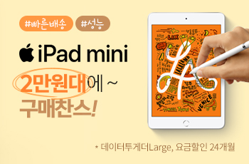 빠른배송, 성능│iPad mini 2만원대에 구매 찬스!