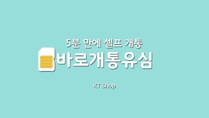 팁앤톡 KT 바로개통 유심 영상
