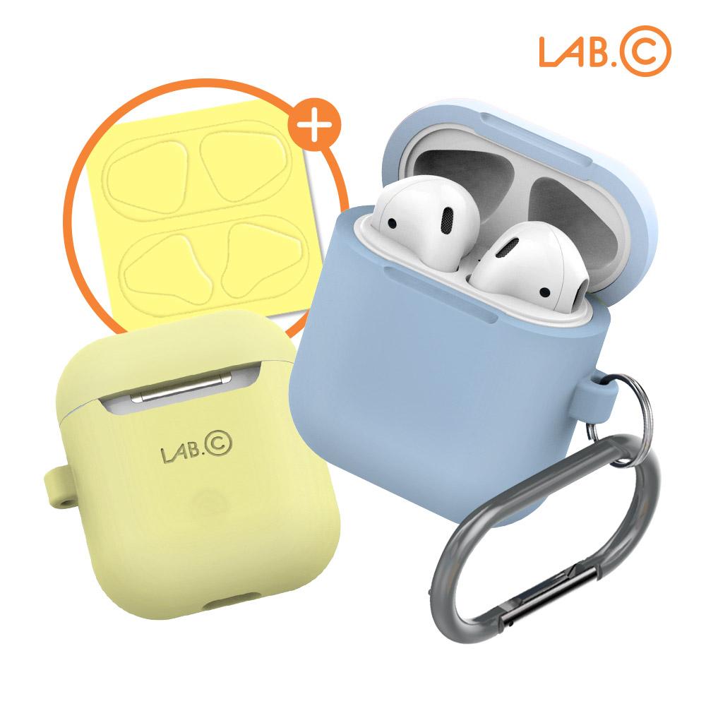 [LAB.C] 랩씨 에어팟 캡슐1 실리콘 케이스 패키지 (1세대 2세대 호환)