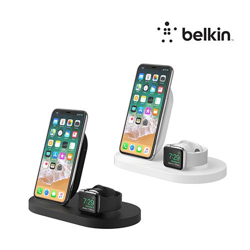 [Belkin]벨킨 아이폰+애플워치+USB-A포트 3in1 무선 충전독