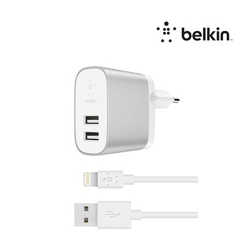 [Belkin]벨킨 부스트업 듀얼충전기+아이폰케이블
