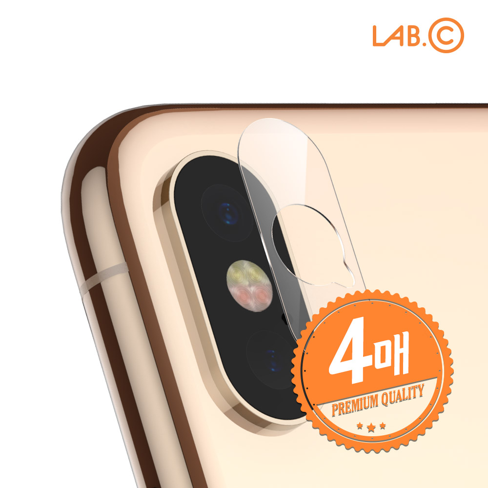 [아이폰특가][LAB.C] 랩씨 아이폰 카메라 렌즈 보호 필름 강화유리 4매입