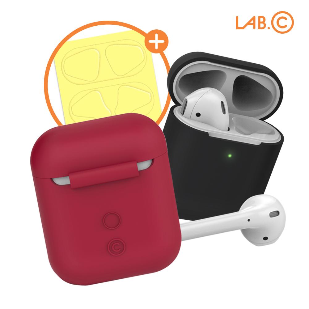 [LAB.C] 랩씨 에어팟 캡슐2 일체형 실리콘 케이스 패키지 (1세대 2세대 호환)