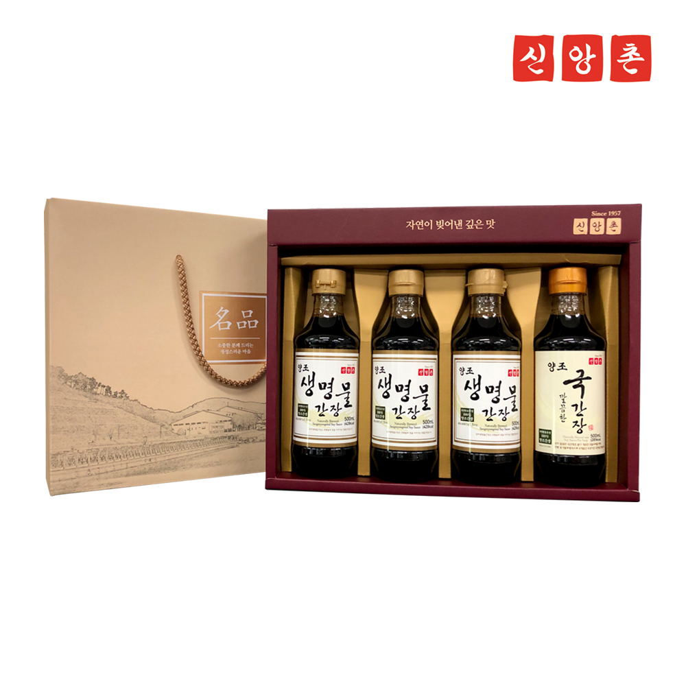 [신앙촌] 양조간장 명품 S5호 500ml*4병/추석선물세트