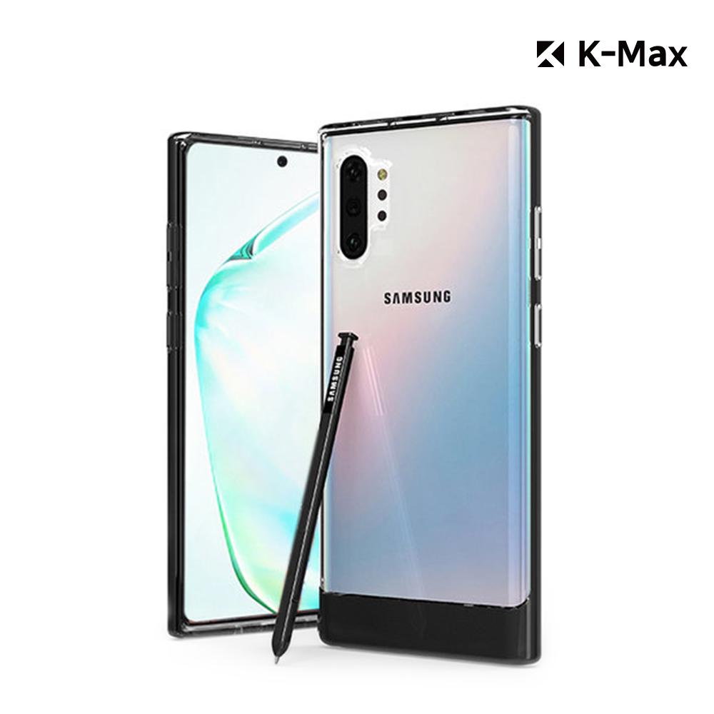 [K-MAX] 갤럭시 노트10 플러스 5G 투명 클리어 범퍼 케이스/레인보우 홀로그램 후면필름 포함