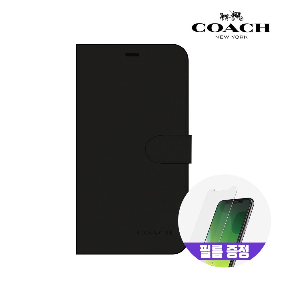 [사은품증정][COACH] 코치 아이폰11 레더 폴리오 가죽 다이어리 케이스