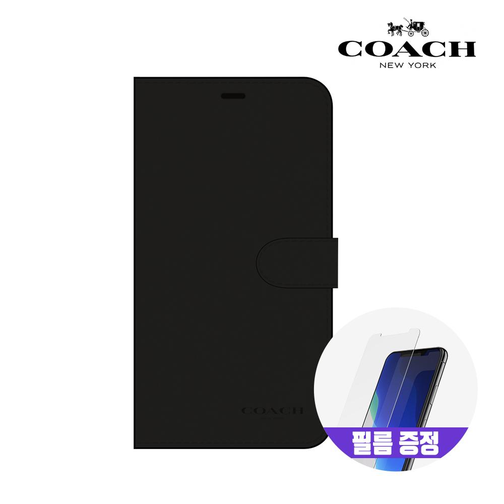 [사은품증정][COACH] 코치 아이폰11 프로 Max 레더 폴리오 가죽 다이어리 케이스