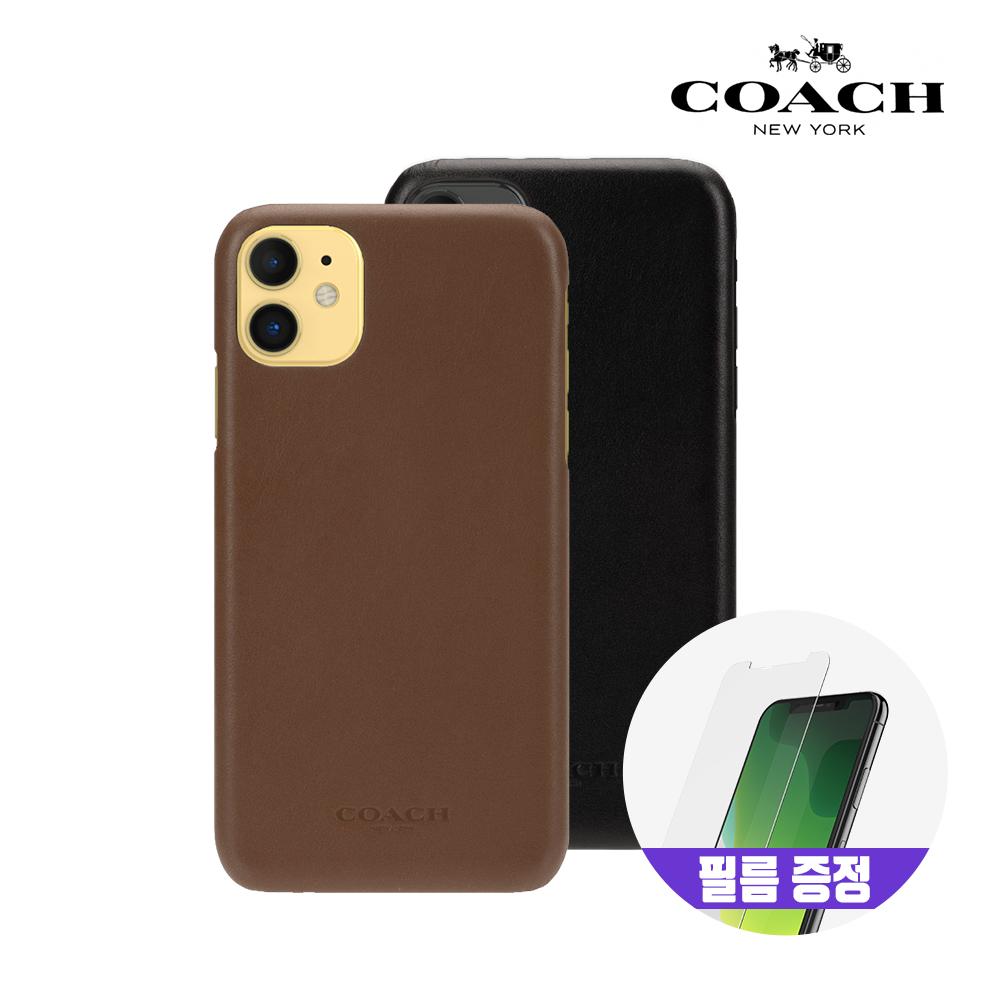 [사은품증정][COACH] 코치 아이폰11 레더 슬림 랩 가죽 범퍼 케이스