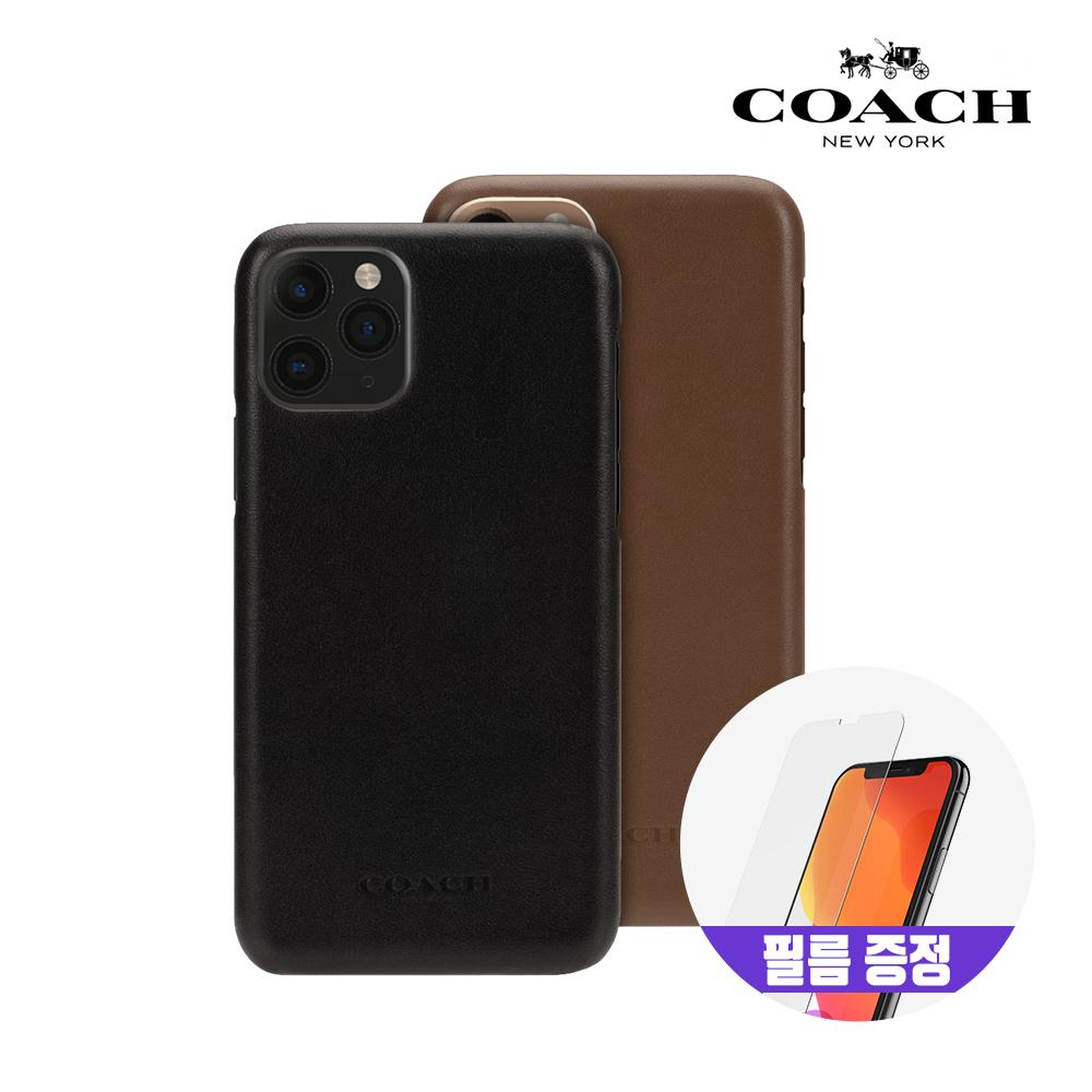 [사은품증정][COACH] 코치 아이폰11 프로 레더 슬림 랩 가죽 범퍼 케이스