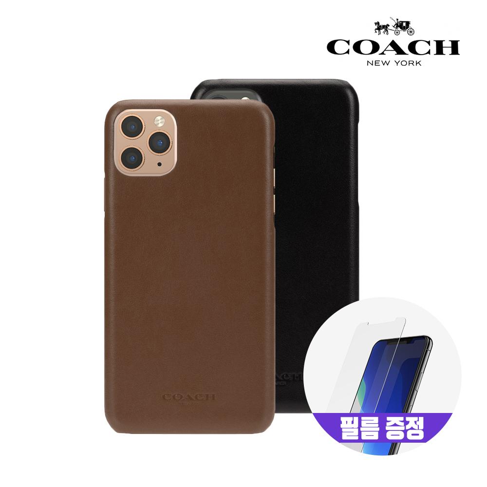 [사은품증정][COACH] 코치 아이폰11 프로 Max 레더 슬림 랩 가죽 범퍼 케이스