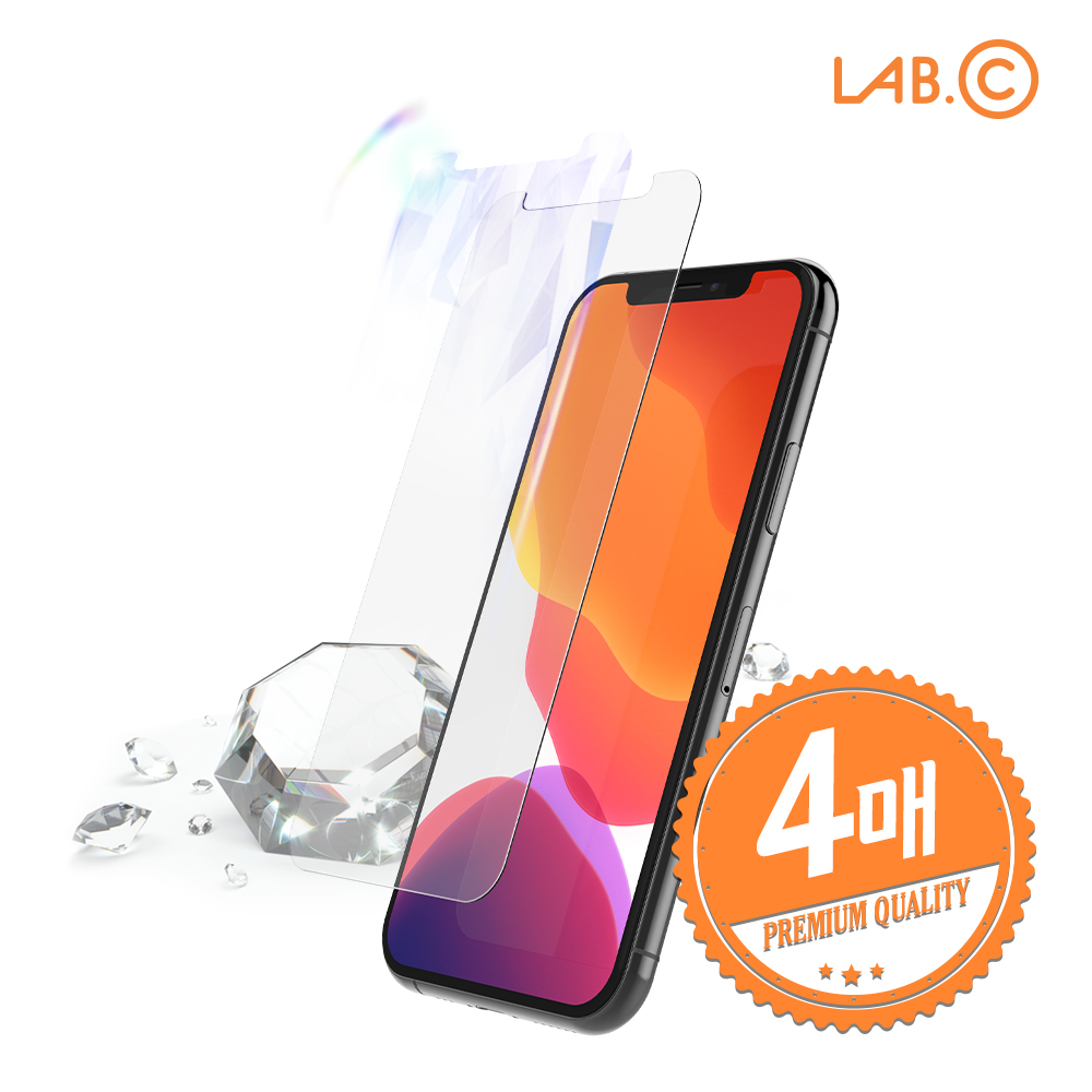 [LAB.C] 랩씨 아이폰11 프로 이지스 쉴드 강화유리 액정보호필름 4매입