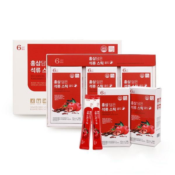 [한국삼] 홍삼담은 석류스틱 골드 10gx30포