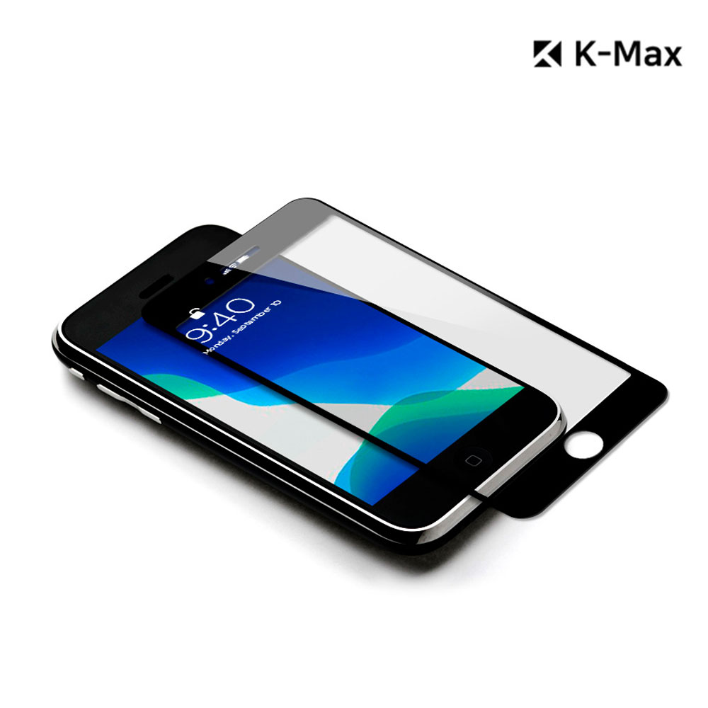 [K-MAX] 케이맥스 아이폰 SE2 풀 커버 다이아몬드 글라스 강화유리 액정보호필름